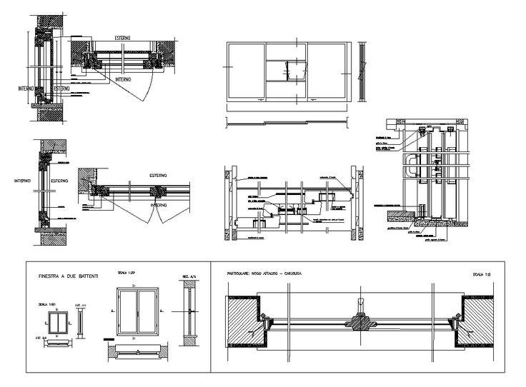 9 best window details images on pinterest architecture for Window design autocad