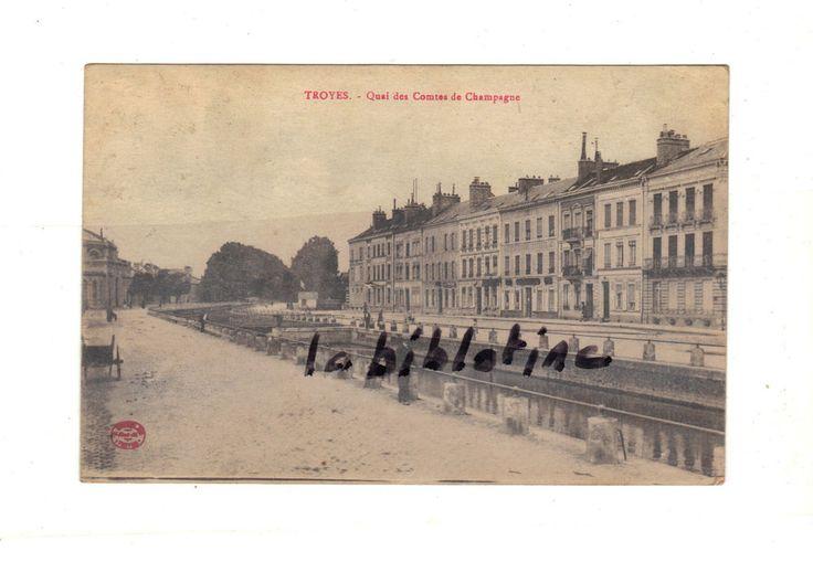 CPA  - TROYES (10) - QUAI DES COMTES DE CHAMPAGNE - 1919