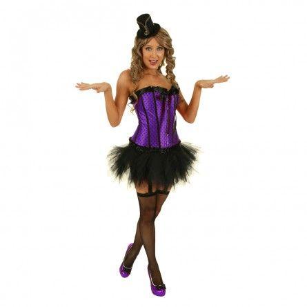 Womens Purple Pin Up Burlesque Costume