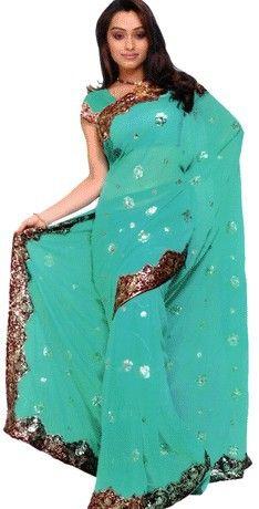 Günstige stürzte maßgeschneiderte indischen sari kleid klassiker anständige georgette kleider multi  farbig neuheit pailletten indien kleidung versandkostenfrei, Kaufe Qualität Indien & Pakistan Kleidung direkt vom China-Lieferanten: