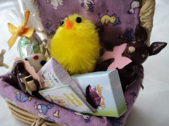146 best gift hamper ideas images on pinterest hamper ideas dolls house miniatures easter gift hamper negle Image collections