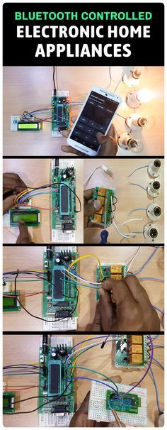 Bluetooth Controlled Electronic Home Appliances is a simple project, where we can control different electrical appliances and electronic devices using an Android device with the help of Bluetooth Technology.