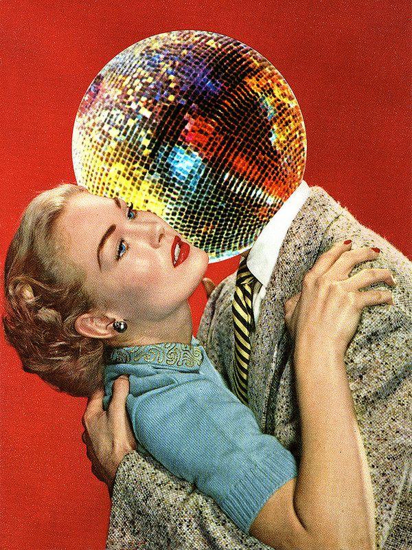 La artista de collages Eugenia Loli nos presenta a su novio con cabeza de bola…