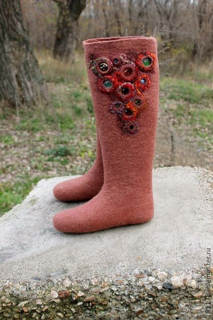 "Felted boots slippers Valenki Обувь ручной работы. Ярмарка Мастеров - ручная работа Валенки ""Сокровище лепреконса"". Handmade."