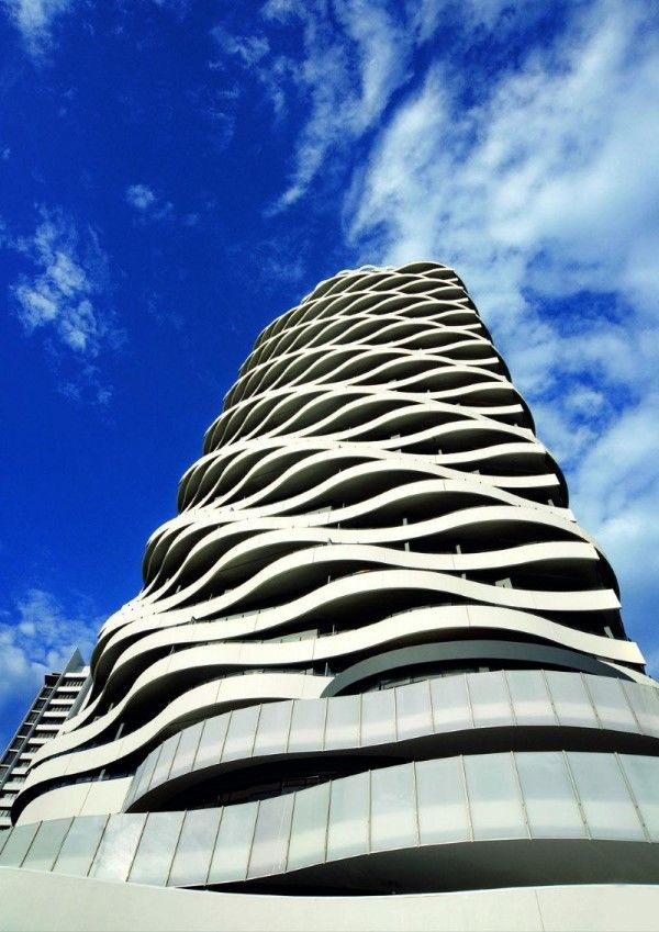5 Beautiful Patterned Buildings (The Wave (building),Queensland) | Most Beautiful Pages