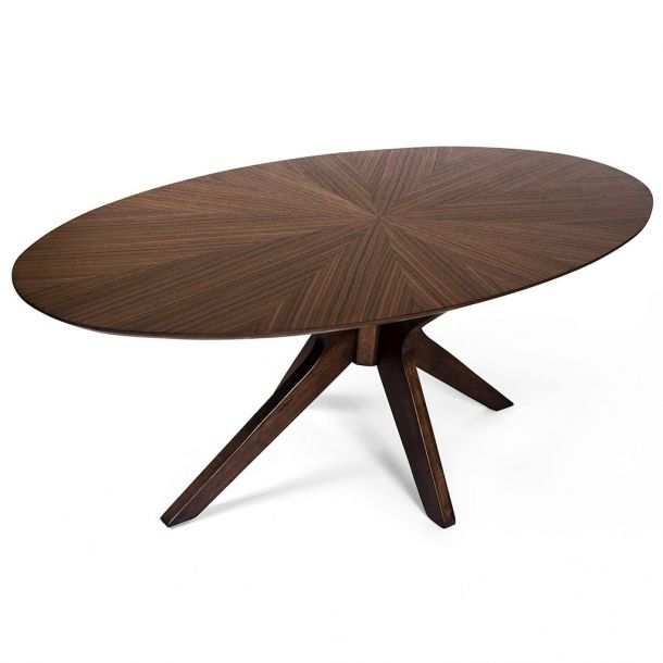 Stratton Oval Coffee Table- Walnut