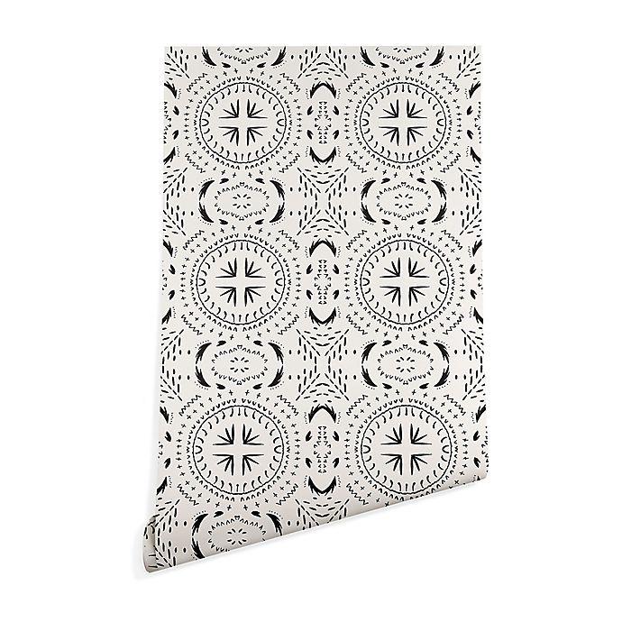 Deny Designs Holli Zollinger Mandala Tile Light Peel Stick Wallpaper Bed Bath Beyond Deny Designs Lit Wallpaper Peel And Stick Wallpaper