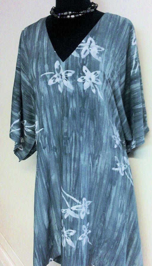 Distinctive Sewing Supplies - Slate Blue Primitive Floral Batik Rayon, $17.99 Burda 6936 (http://www.distinctivesewing.com/slate-blue-primitive-floral-batik-rayon/)