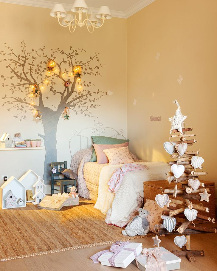 Elegant and bright Christmas house