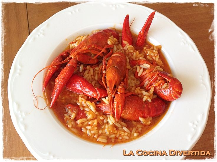 arroz caldoso con cangrejos de rio