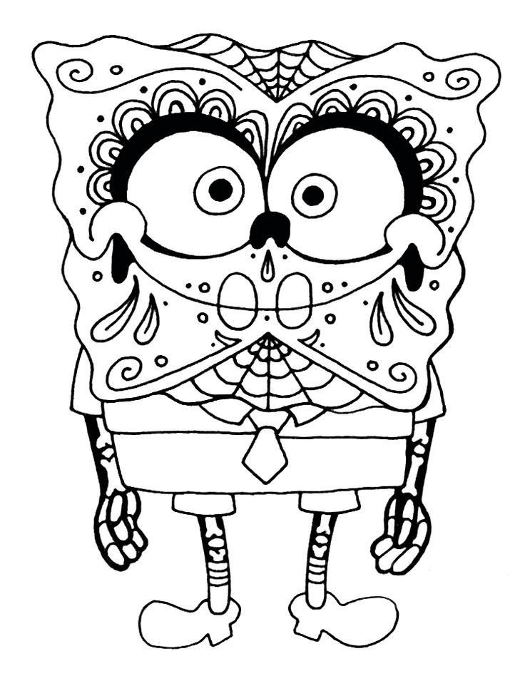 14 best Tatoo Stencils - Spongebob - Brandon images on Pinterest - best of spongebob underwater coloring pages