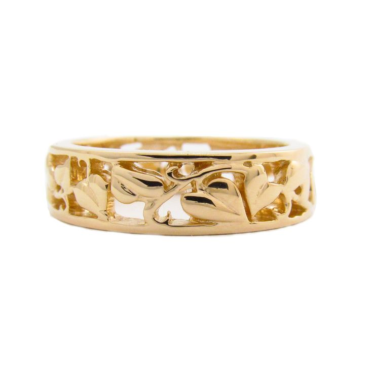 yellow gold vine ring