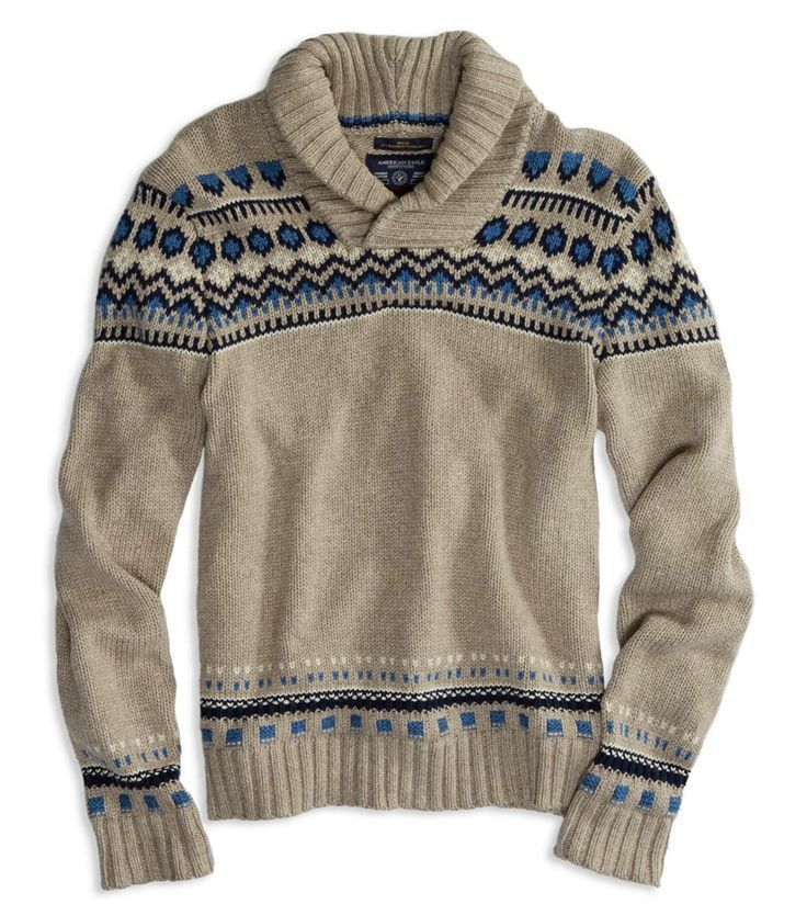 Find best value and selection for your NWOT MENS AMERICAN EAGLE SHAWL COLLAR FAIR ISLE ATHLETIC FIT SWEATER LARGE L search on eBay.