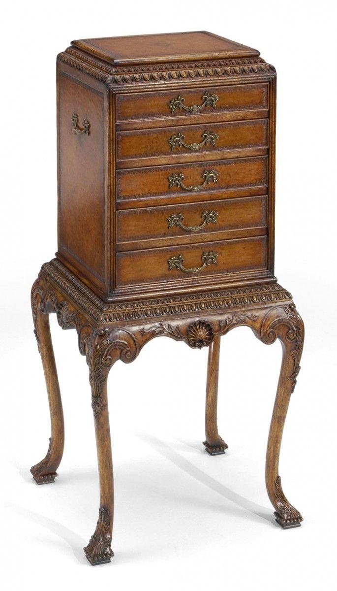 Mid century wheat sheaf coffee table irish antique dealers - George Ii Style Flatware Cabinet