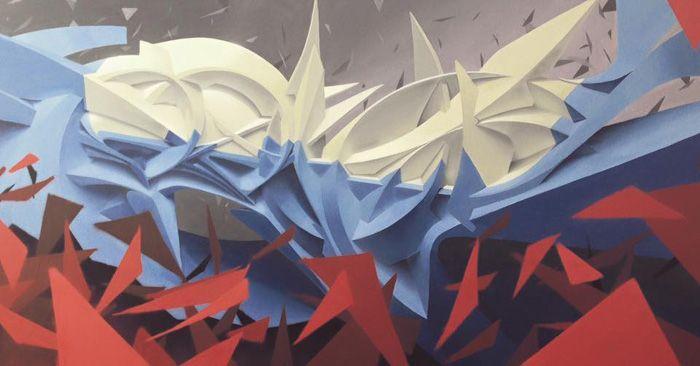 Twentyfour, 200x100 cm, mixed media on canvas, 2016, SOLD