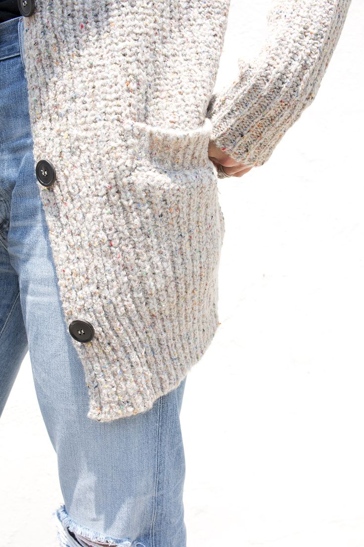 Isabel Marant | beige chunky knit cardigan