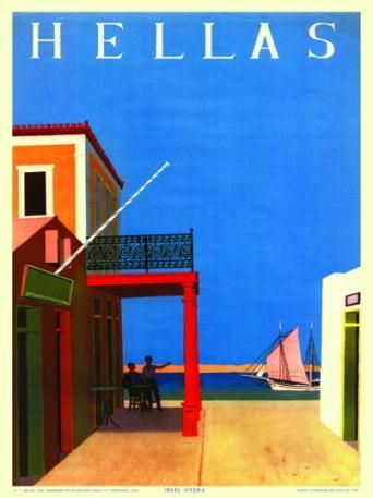 HYDRA 1956. Καλλιτέχνης ο Γιάννης Μόραλης.