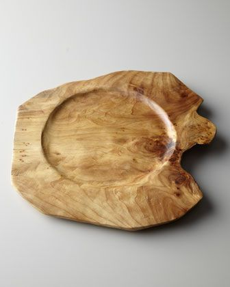 """Root""+Wood+Charger+Plate+at+Neiman+Marcus."