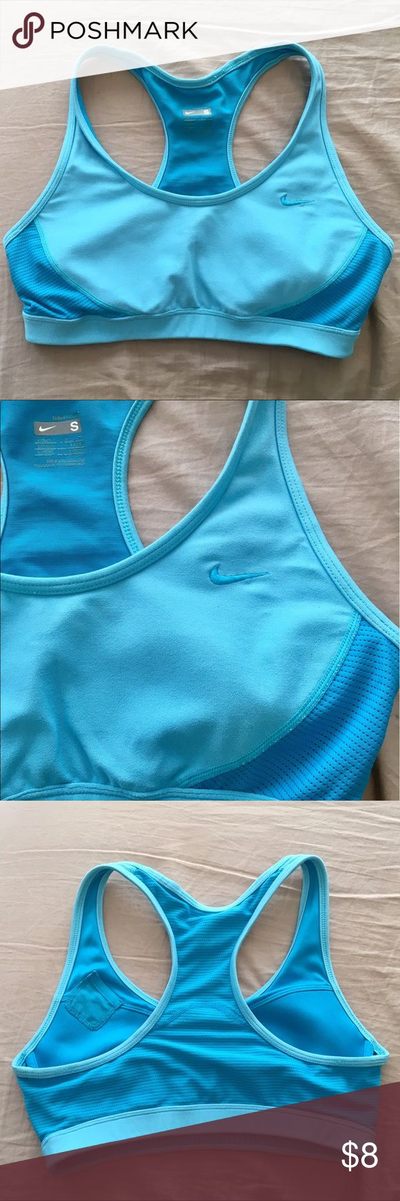 Nike FIT DRY sports bra, size S Two-tones blue sports bra by Nike. Used but still in great condition! From a pet-free and smoke-free home. Nike Intimates & Sleepwear Bras