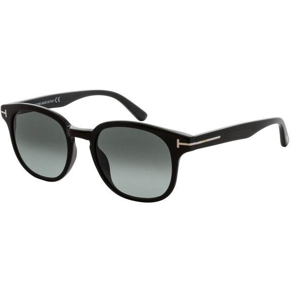 Tom Ford Women's Gradient Wayfarer Frame - Black ($199) ❤ liked on Polyvore featuring accessories, eyewear, sunglasses, black, keyhole glasses, wayfarer style sunglasses, tom ford sunglasses, tom ford and tom ford sunnies
