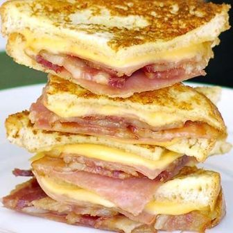 Bacon Monte Cristo Finger Sandwiches. I can't wait to try these on Rudi's Gluten Free Multigrain bread http://food-trucks-for-sale.com/