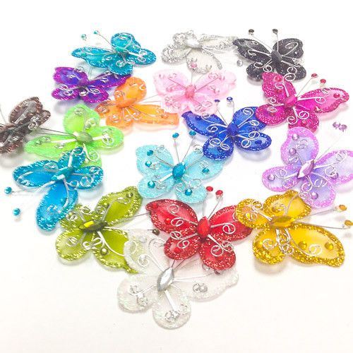 69 best butterfly quince wedding images on pinterest for Wholesale quinceanera craft supplies