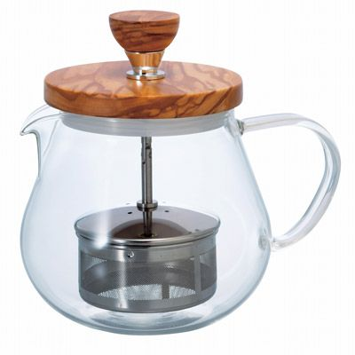 "Pull-up Tea Maker ""Teaor Wood"" 450ml - HARIO Co., Ltd."