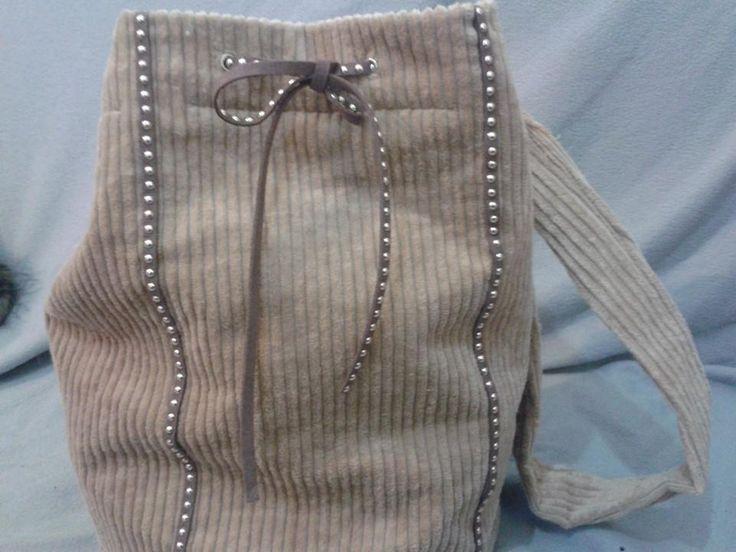 kalan bir kumaştan bir çanta daha..