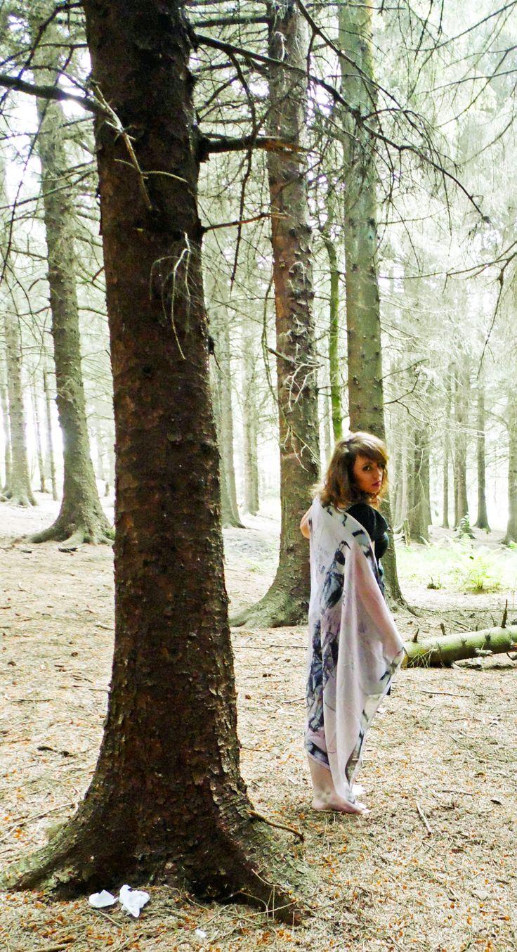 Handmade silk scarf, digitally printed. Designed by Corren Alyssa - www.facebook.com/correnalyssatextiles