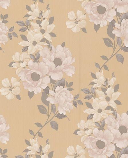 Mustard Design Wallpaper : Duchessa mustard wallpaper from grahambrown