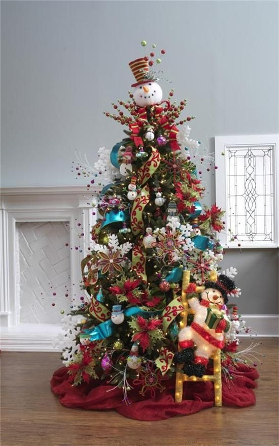 17 best images about red blue christmas tree 39 s on for Red and green christmas tree