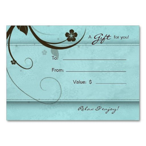 321 best Salon Business Cards \ Promotion images on Pinterest - gift card template