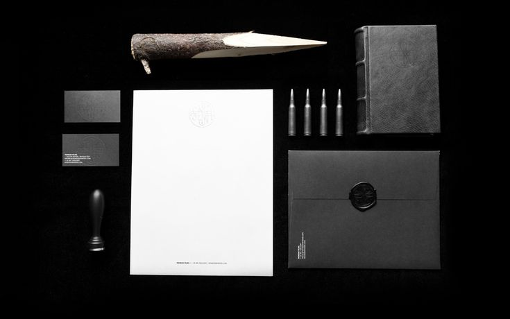 Another wonderful piece by Anagrama, Mexico: Identity for Nemesis, a horror-film production companies in Latin America.   #stationery #bw