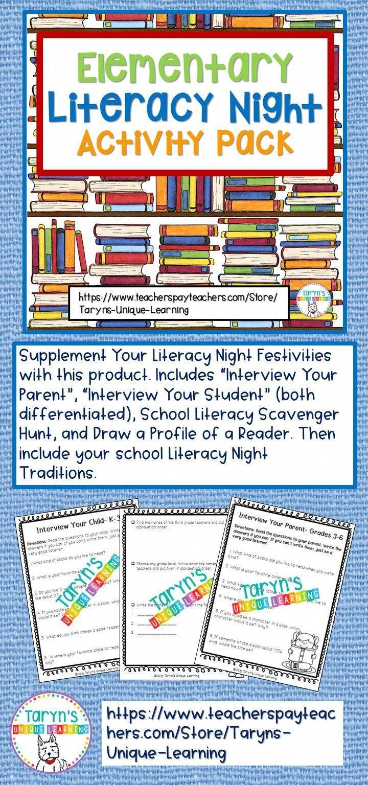 literacy night | parent education | pinterest | literacy, elementary