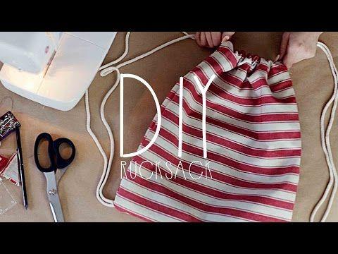 DIY Turnbeutel nähen - Rucksack einfach selber machen Anleitung für Anfänger - YouTube