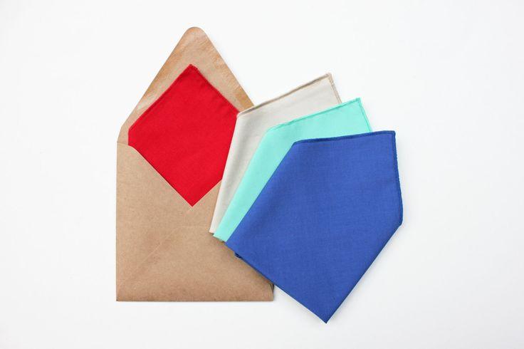 Fazzoletto da taschino, Pochette uomo, verde menta,rosso,blu,beige,accessori per matrimonio,regalo testimoni sposo,pochette per cerimonia, di ScoccaPapillon su Etsy