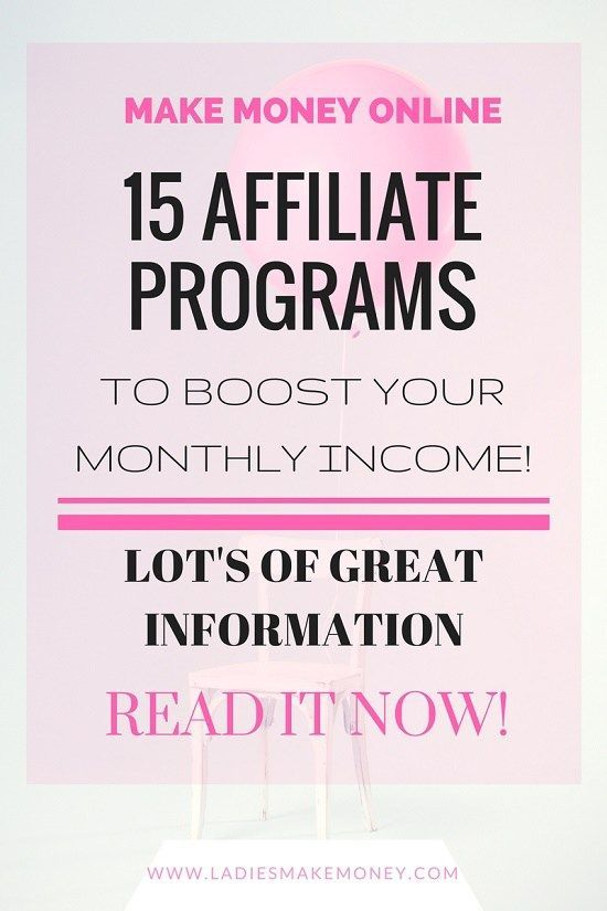 15 Affiliate Programs to boost your monthly income. Make money blogging. Increase your blog income. Learn how to make money with Affiliate marketing. Brands  for bloggers.
