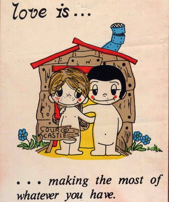 Love Is... by allsfairyvintage,  aww., I really miss these. They use to come out in the paper and I would clip them on stick on the bathroom mirror for me newly husband to see.