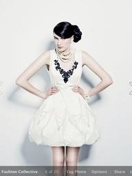 Blanche Macdonald Fashion Design student Sophia Chaos chandelier dress.
