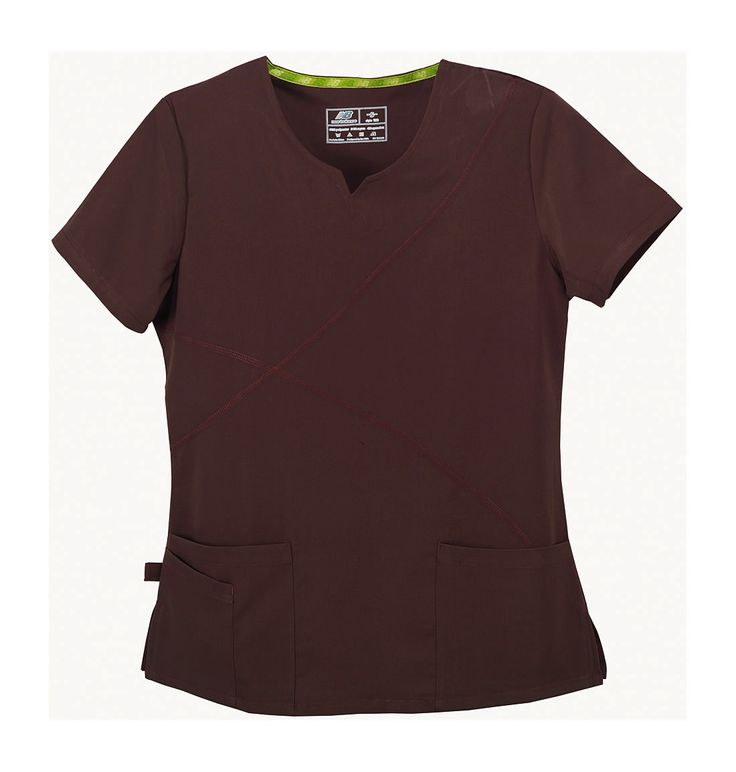 New Balance. Gazelle Scrub Top. Mocha Brown, comfort and style!