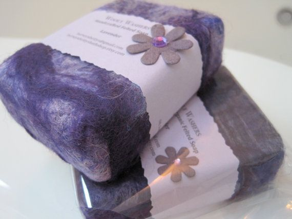 Handmade Lavender Felted Soap