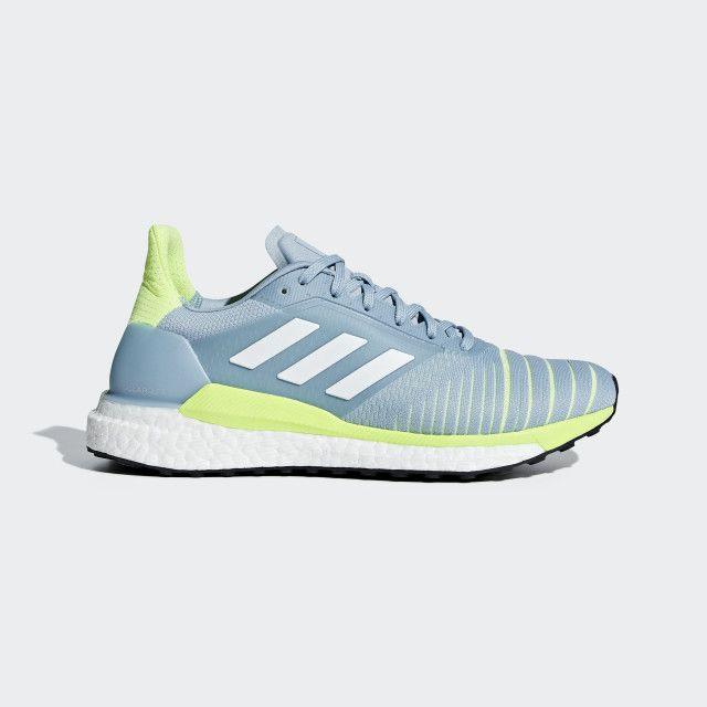 Solar Glide Shoes | Blue shoes, Blue adidas, Running shoes