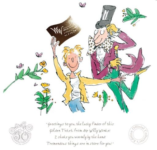 Roald Dahl Charlie And the Chocolate Factory 50th Anniversary Edition Limited Edition Print l Contemporary Art