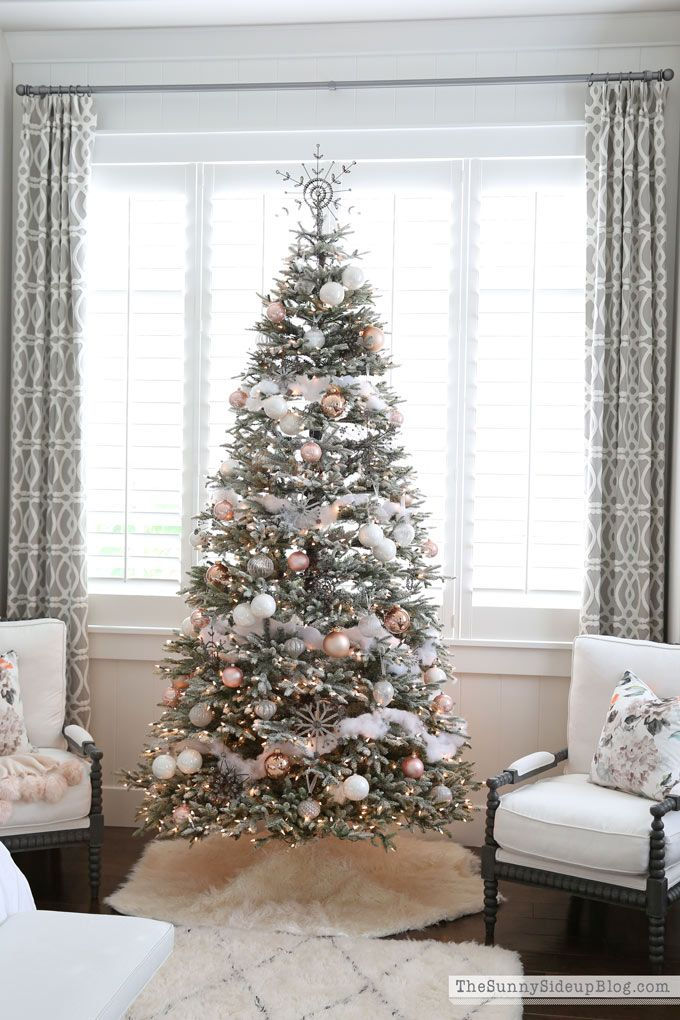 Frosted Christmas Tree - 12 Bloggers with Balsam Hill - The Sunny Side Up Blog