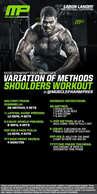 Muscle Pharm Shoulders Workout                                                                                                                                                                                 More