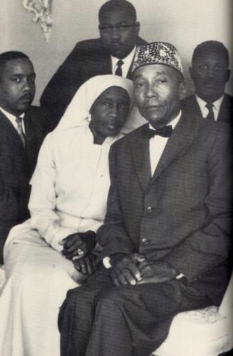 The Honorable Elijah Muhammad and wife, Sister Clara Muhammad.