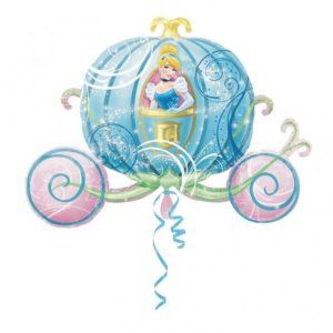 """33"""" GIANT SUPERSHAPE FOIL BALLOON DISNEY CINDERELLA CARRIAGE IDEAL FOR BIRTHDAY PARTY: Amazon.co.uk: Toys & Games"""