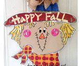Scarecrow Door Hanger - Bronwyn Hanahan Art
