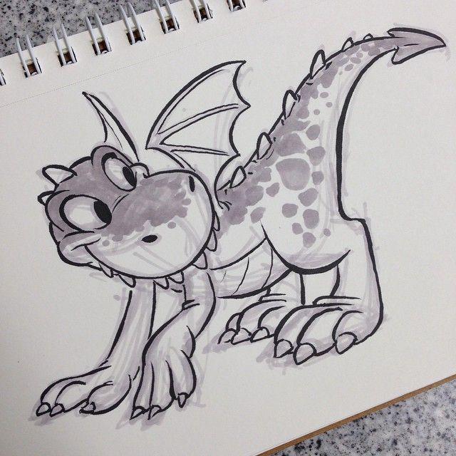 #dragon #brushpen #breaksketch #cartoons
