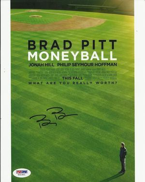 Billy Beane Autographed Signed Moneyball Photo Brad Pitt
